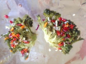 roasted salad after